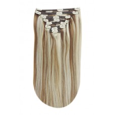 Remy Human Hair extensions Double Weft straight - blond 14/22#