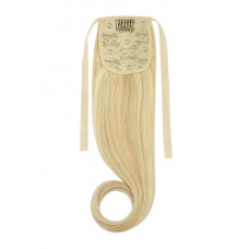 Remy Human Hair Extensions Ponytail straight blond - 16/613#