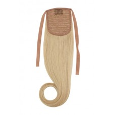 Remy Human Hair Extensions Ponytail straight blond 16#