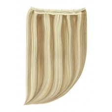 "Remy Human Hair extensions Quad Weft straight 20"" - blond 18/613#"