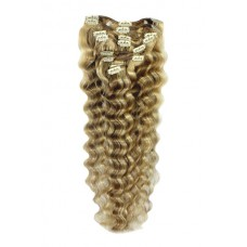 Remy Human Hair extensions wavy - blond 18/613#