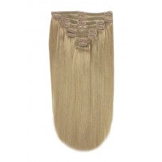 Remy Human Hair extensions Double Weft straight - blond 18#