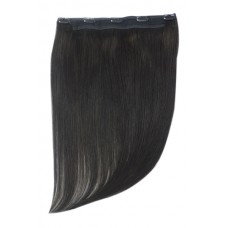 Remy Human Hair extensions Quad Weft straight - zwart 1B#