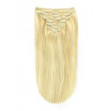 "Remy Human Hair extensions straight 16"" - blond 22/613"