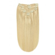 """Remy Human Hair extensions straight 18"""" - blond 22#"""