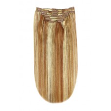 Remy Human Hair extensions Double Weft straight - blond / rood / blond 27/33/613#