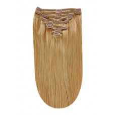 Remy Human Hair extensions Double Weft straight - blond 27#