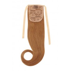 Remy Human Hair Extensions Ponytail straight rood 30#
