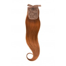 Remy Human Hair Extensions Ponytail straight rood 350#