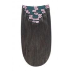 """Remy Human Hair extensions Double Weft straight 16"""" - bruin 3#"""
