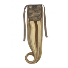 Remy Human Hair Extensions Ponytail straight bruin / blond - 4/27#