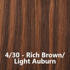 Flip-In Hair 4/30 Rich Brown/Light Auburn
