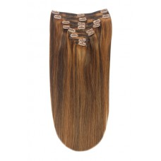 Double Weft Medium Brown/Auburn Mix #4/30