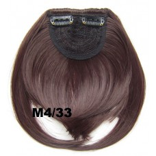 Pony hairextension clip in bruin / rood - M4/33#