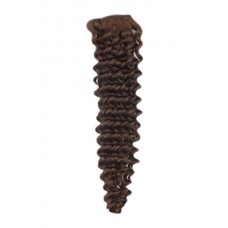 """Remy Human Hair extensions curly 18"""" - bruin 4#"""