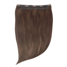 "Remy Human Hair extensions Quad Weft straight 16"" - bruin 4#"