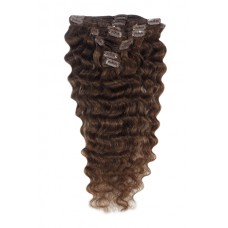 "Remy Human Hair extensions wavy 22"" - bruin 4#"