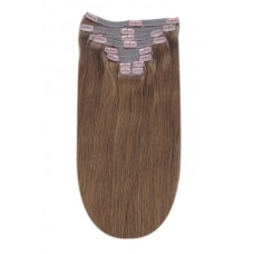 """Remy Human Hair extensions Double Weft straight 18"""" - bruin 5#"""