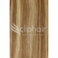 Remy Human Hair Highlights bruin / blond #6/27
