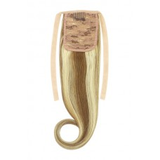 Remy Human Hair Extensions Ponytail straight bruin / blond 6/613#