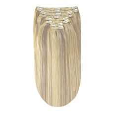 Remy Human Hair extensions straight - blond / silver sand 60/SS
