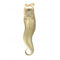 Remy Human Hair Extensions Ponytail straight blond 60/SS