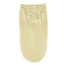 Remy Human Hair extensions Double Weft straight - blond 60#
