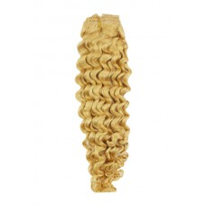 "Remy Human Hair extensions curly 14"" - blond 613#"