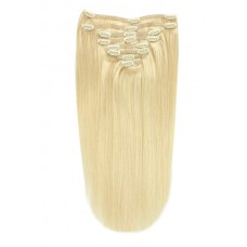 "Remy Human Hair extensions straight 16"" - blond 613#"