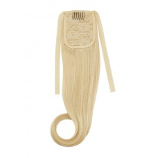 Remy Human Hair Extensions Ponytail straight blond 613#