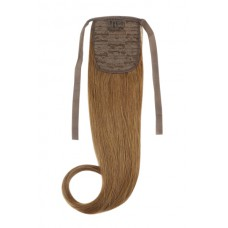 Remy Human Hair Extensions Ponytail straight bruin 6#