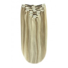 Remy Human Hair extensions Double Weft straight - blond 9/613#
