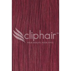 "Remy Human Hair Highlights 20"" rood 99J#"