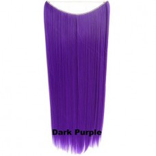 Wire hair straight Dark Purple