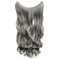 Wire hair wavy Dim Gray