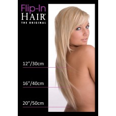 Flip-In Hair 4/27+4 Rich Brown/Butterscotch + Rich Brown