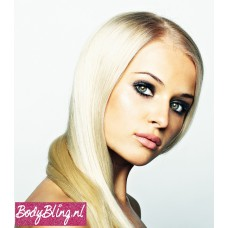 Clip in 1 baan straight BlackTPink