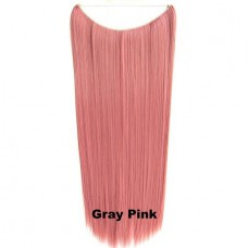 Wire hair straight Gray Pink