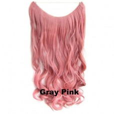 Wire hair wavy Gray Pink