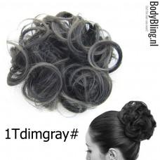 Haar Wrap zwart / grijs 1TDimgray#
