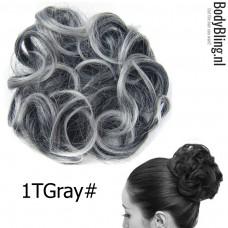 Haar Wrap zwart / grijs 1TGray#