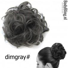 Haar Wrap grijs Dimgray#