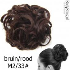 Haar Wrap bruin/rood M2/33#