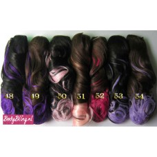 8. Brazilian wavy clip in hair extensions