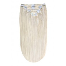 """Remy Human Hair extensions Double Weft straight 24"""" - Ice Blond"""