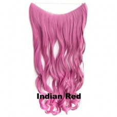 Wire hair wavy Indian Red