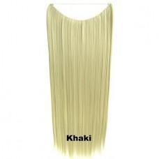 Wire hair straight Khaki