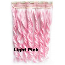 Clip in 1 baan wavy Light Pink
