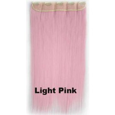 Clip in 1 baan straight Light Pink