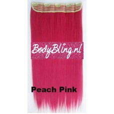 Clip in 1 baan straight Peach Pink
